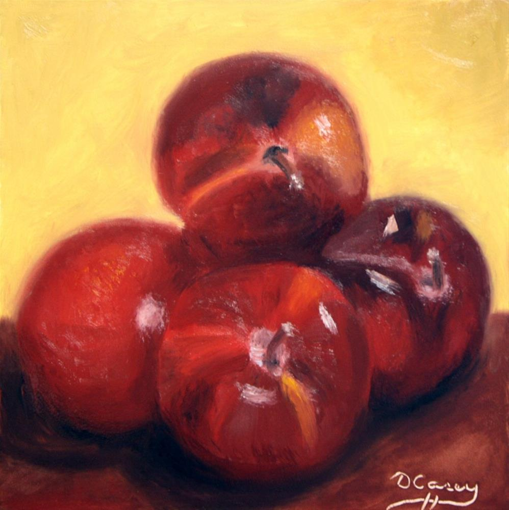 """""""140831 - Kitchen Painting - Plums 002a"""" original fine art by Dave Casey"""
