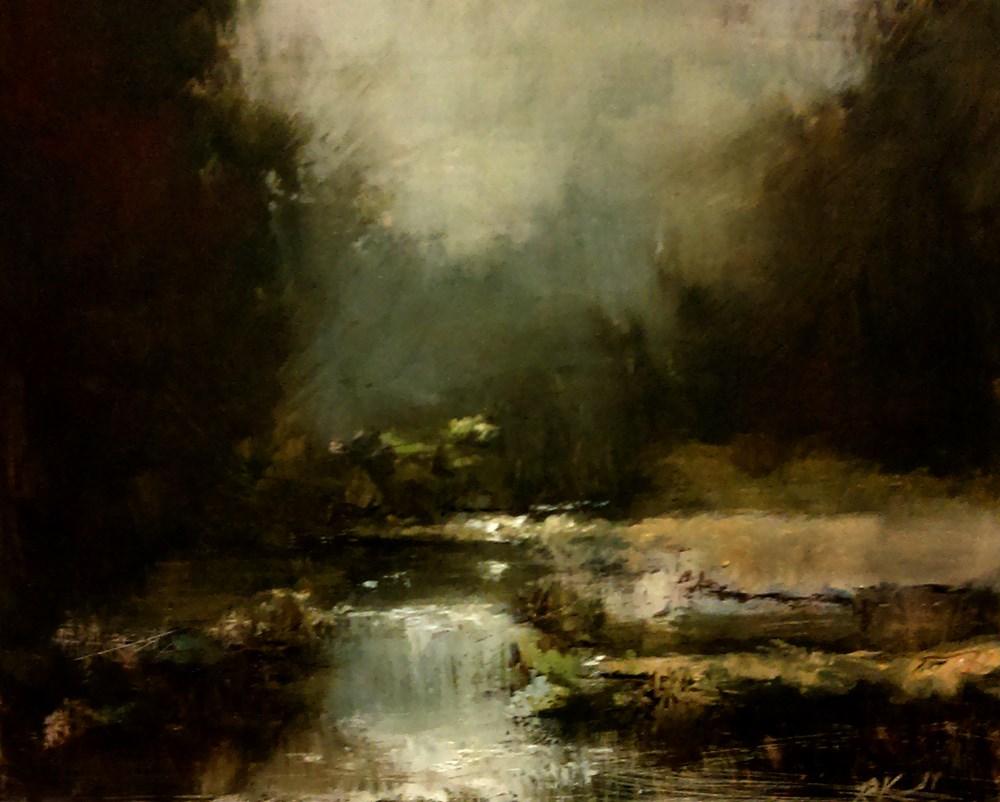 """River Waterfall"" original fine art by Bob Kimball"