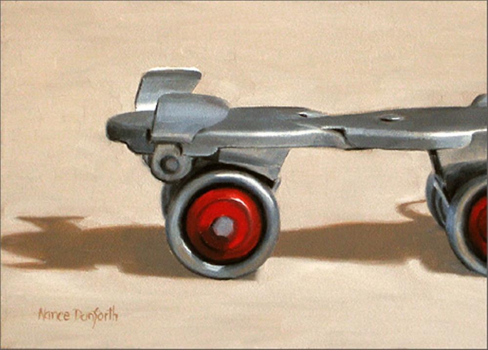 """""""Roller Skates"""" original fine art by Nance Danforth"""