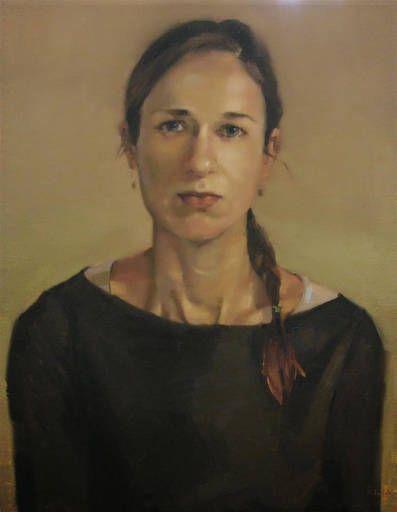 """Self-Portrait at 34"" original fine art by Sarah Sedwick"
