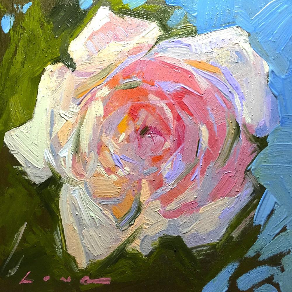 """Rose"" original fine art by Chris Long"