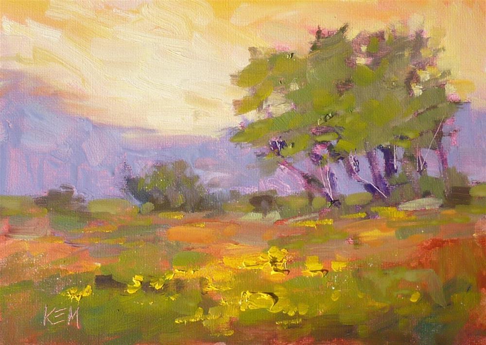"""Meadow Study"" original fine art by Karen Margulis"