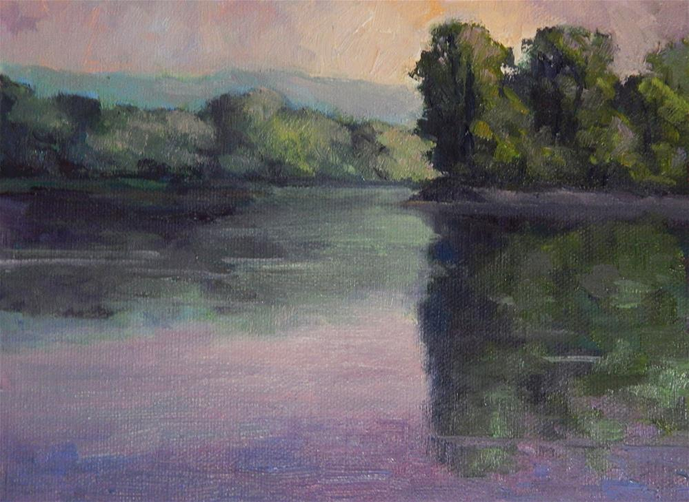 """""""Early Morning on the River"""" original fine art by Lisa Kyle"""