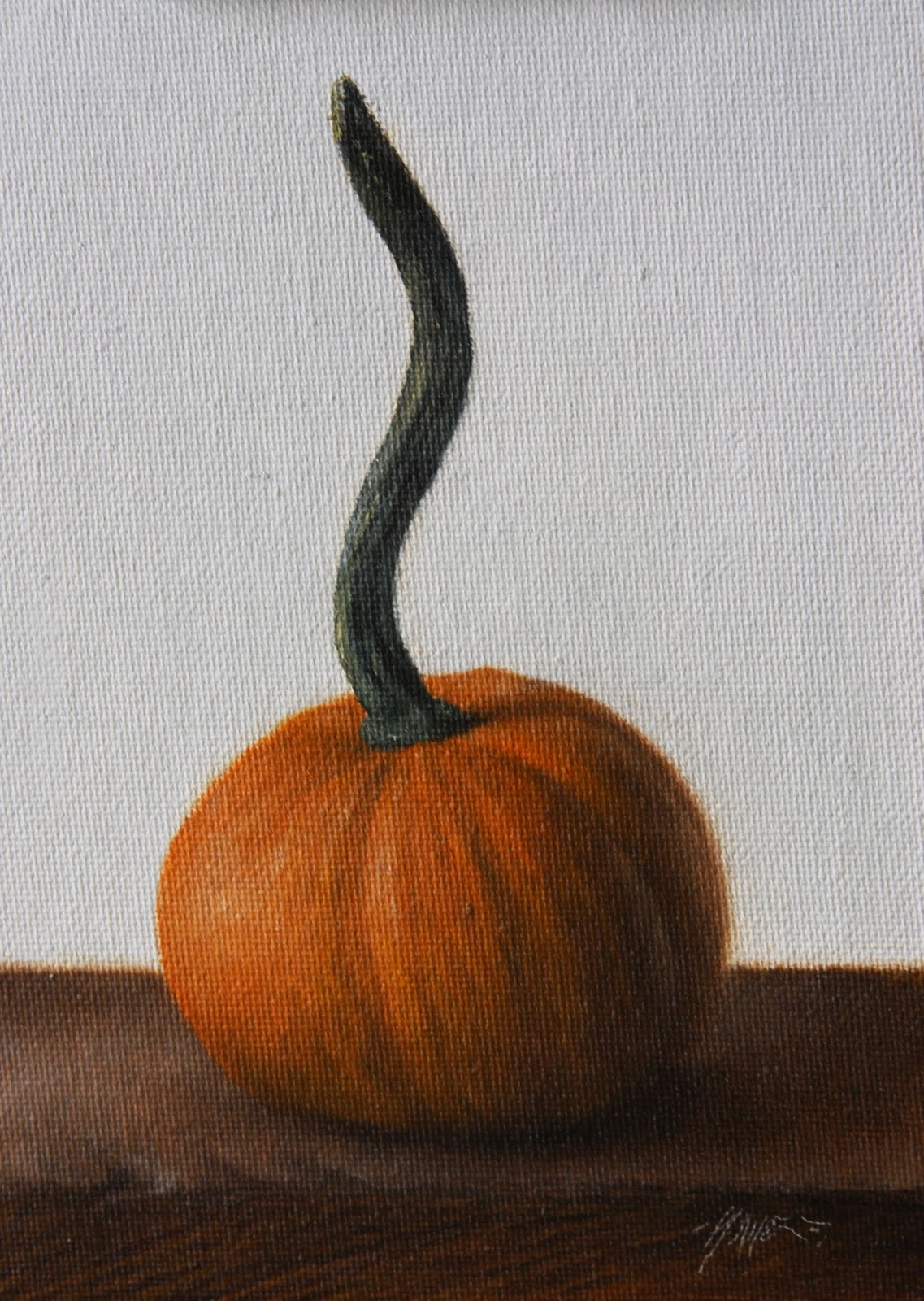 """""""Pumpkin Stem"""" original fine art by Jonathan Aller"""