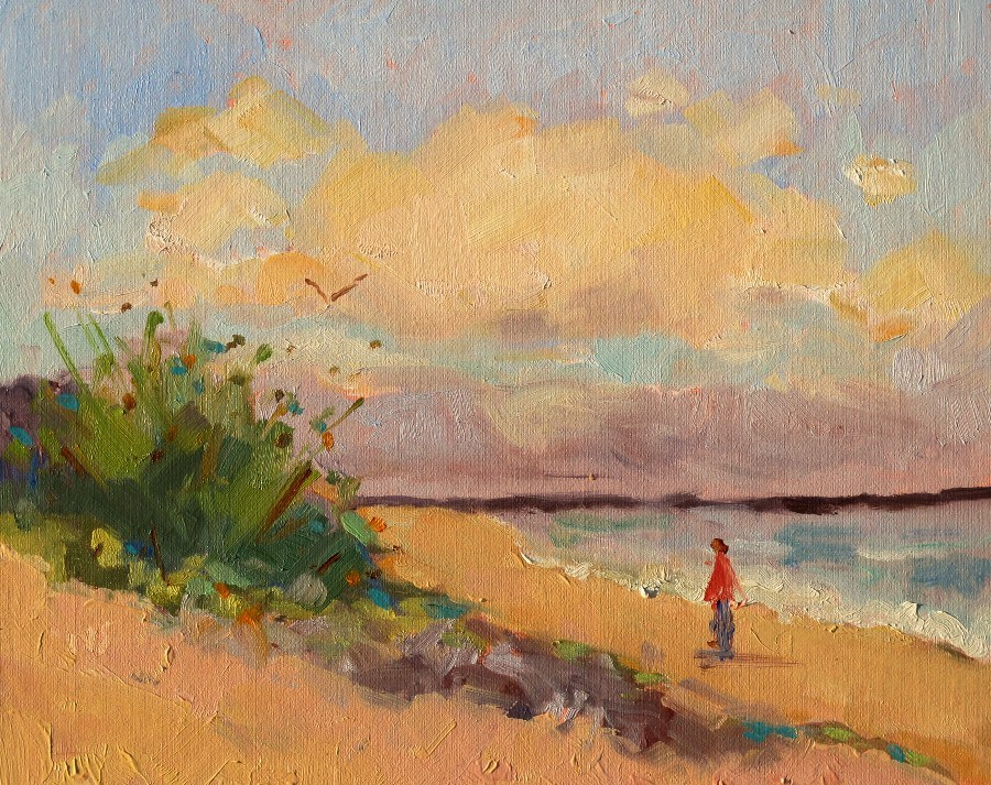 """Beach Quiet, 12123"" original fine art by Nancy Standlee"