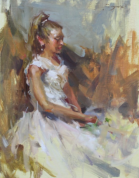 """Ballet Girl"" original fine art by Fongwei Liu"