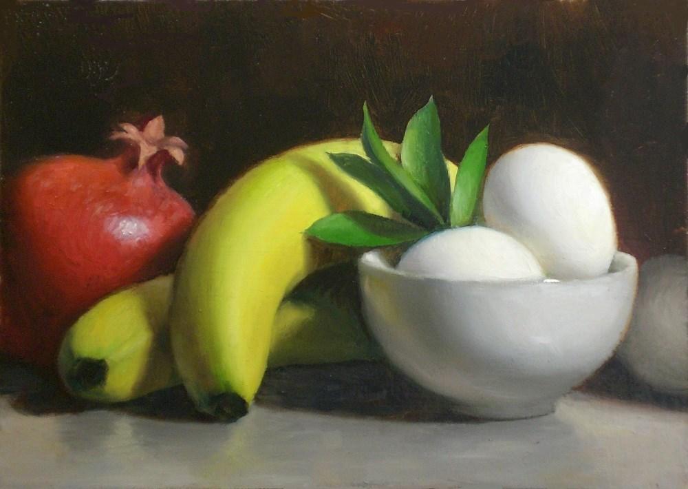 """Fruit and Eggs"" original fine art by Debra Becks Cooper"