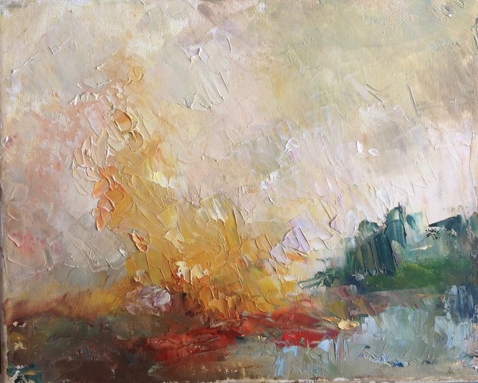 """Pass the Marshmallows"" original fine art by Judy Usavage"
