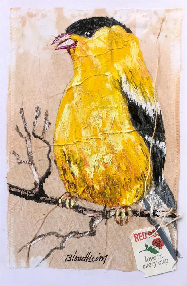 """Yellow Warbler"" original fine art by Linda Blondheim"