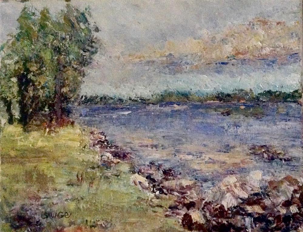 """Morning Reflection"" original fine art by Judy Usavage"