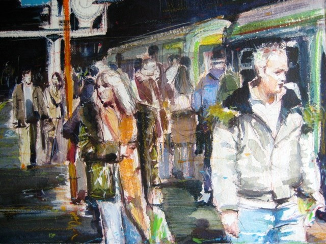 """Urban Life"" original fine art by Adebanji Alade"