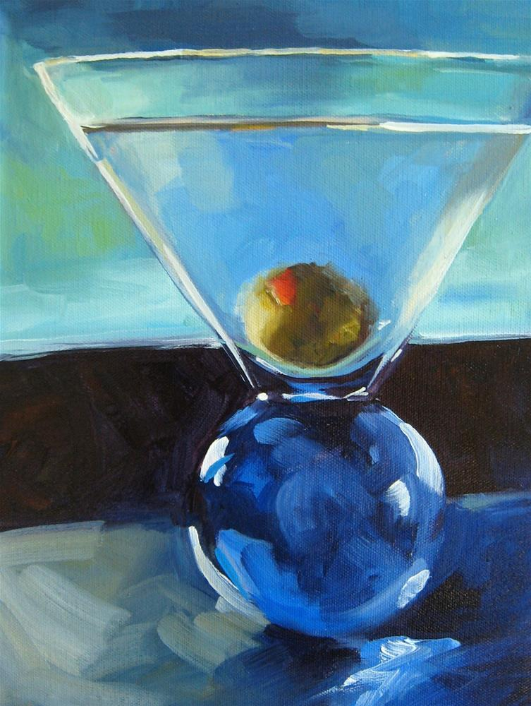 """Blue Martini"" original fine art by Lisa Sotero"