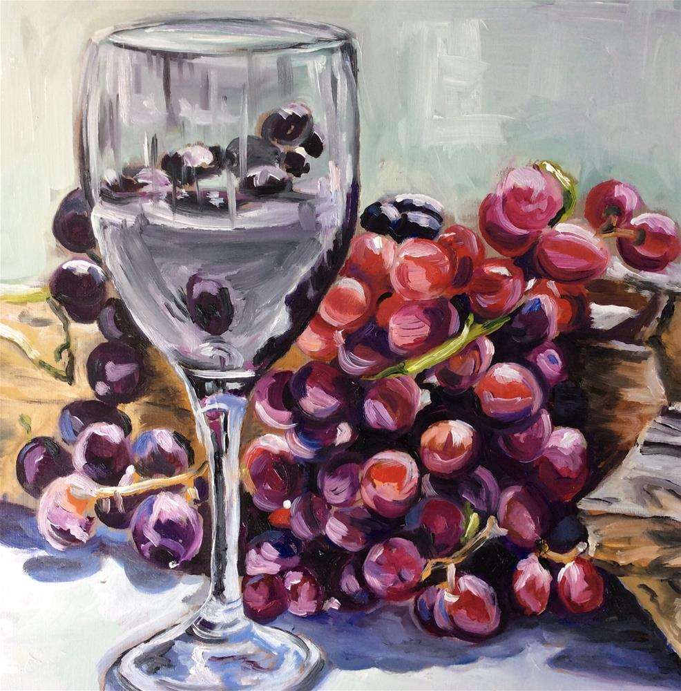"""Still life wine"" original fine art by Sonja Neumann"