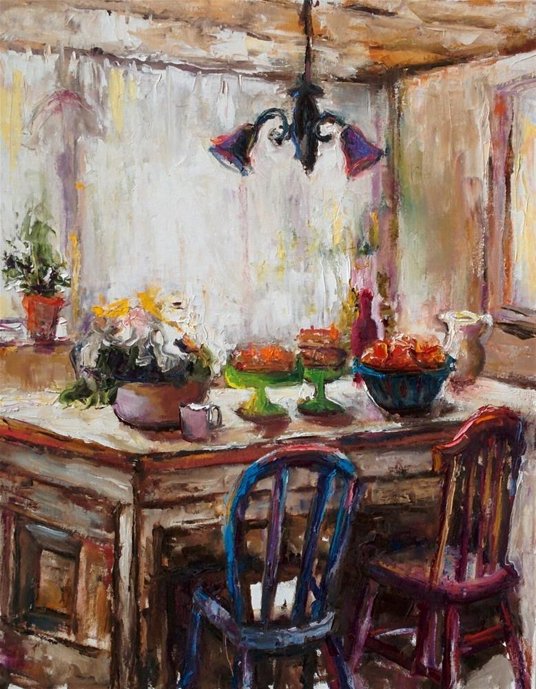 """Somewhere in Provence"" original fine art by pepa sand"