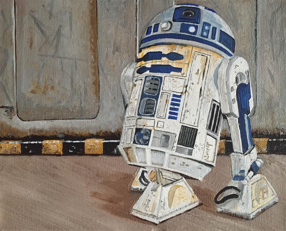 """""""R2D2"""" original fine art by Helen Kuhn"""