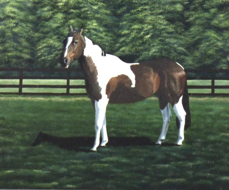 """Mike's Horse"" original fine art by John Marcum"