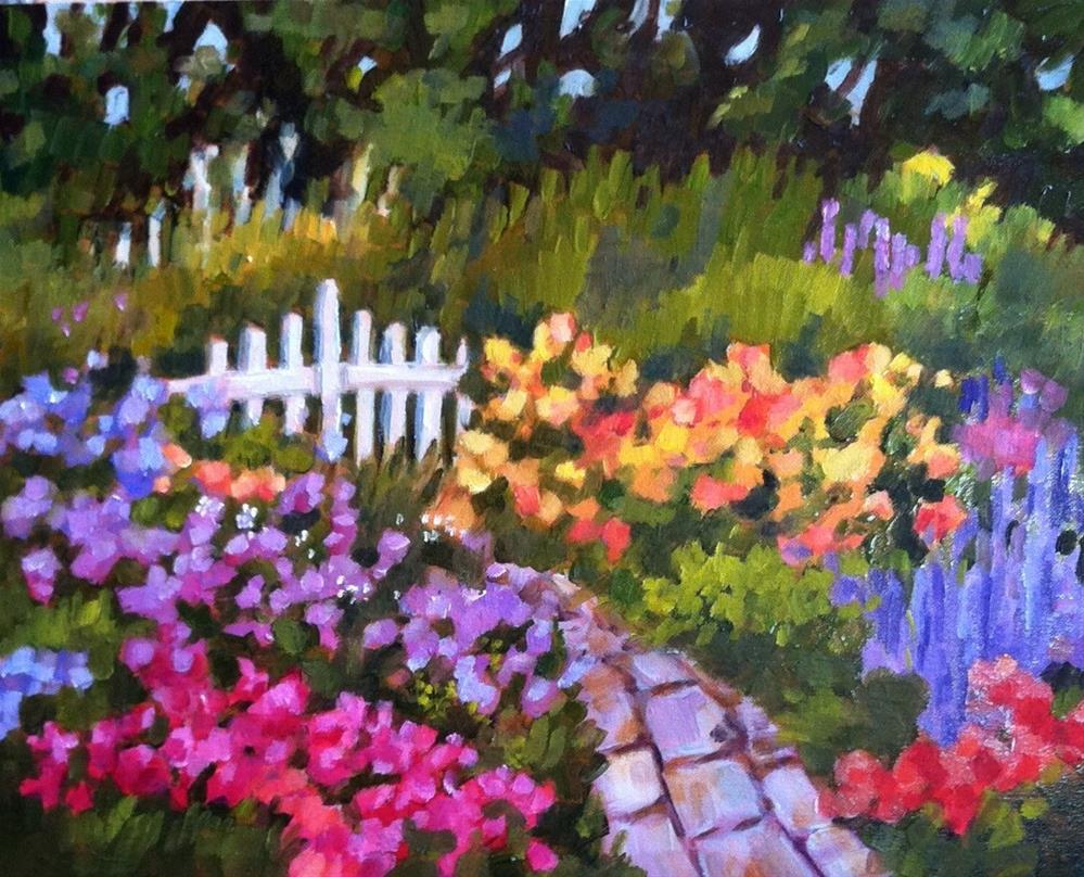 """""""Back of the Garden"""" original fine art by Libby Anderson"""