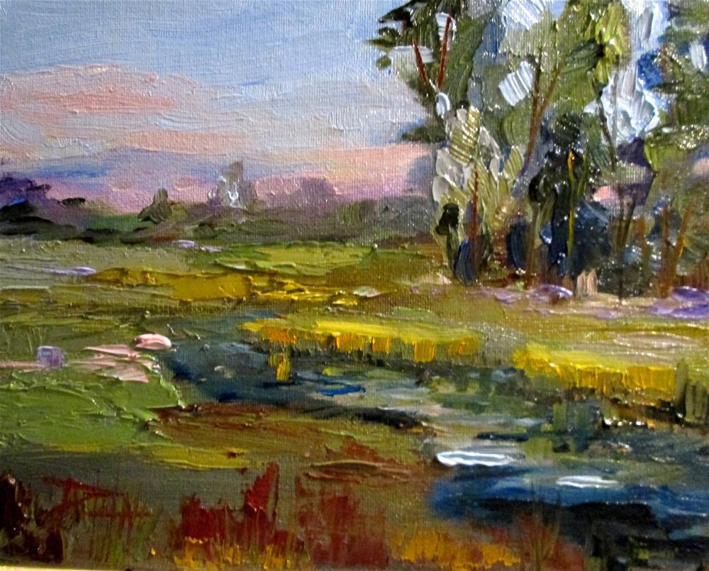 """""""A Stream Runs Through It"""" original fine art by Delilah Smith"""