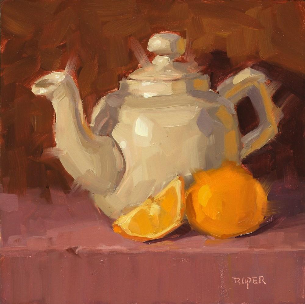 """""""Little White Teapot"""" original fine art by Stuart Roper"""