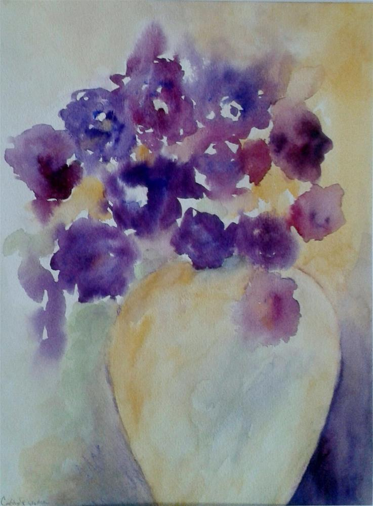 """Flower Colors"" original fine art by Cathy Dykstra"
