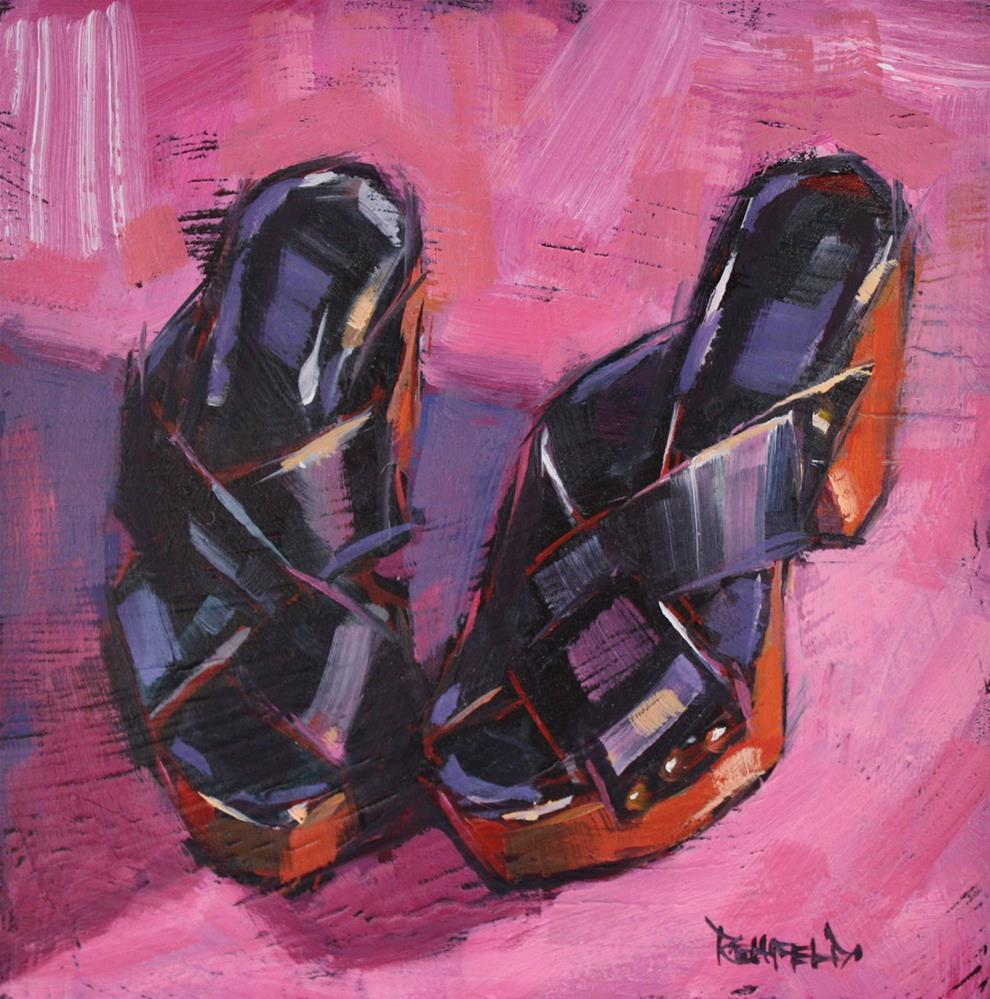 """Shoe Fiend! # 7 Summer Sandals"" original fine art by Cathleen Rehfeld"