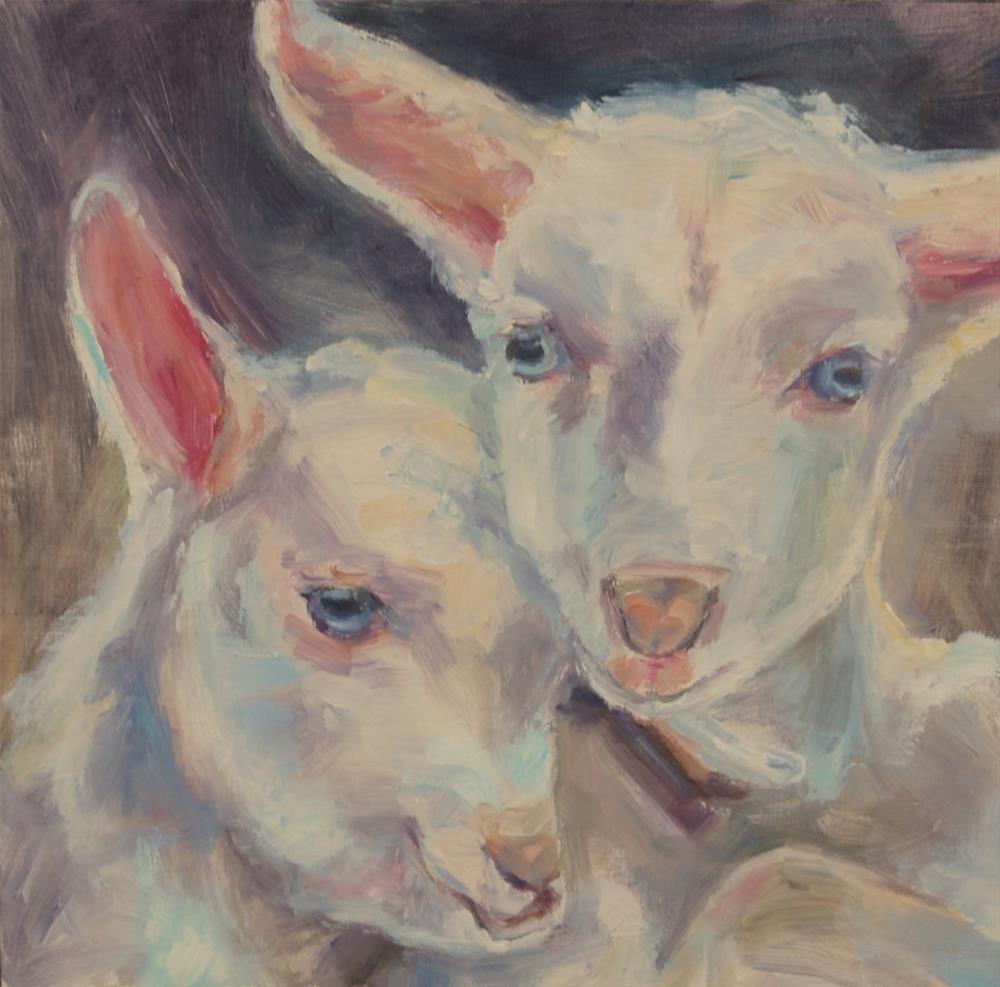 """""""Lamb painting, Original oil by Carol DeMumbrum"""" original fine art by Carol DeMumbrum"""