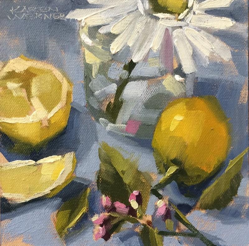 """""""Lemony"""" original fine art by Karen Werner"""