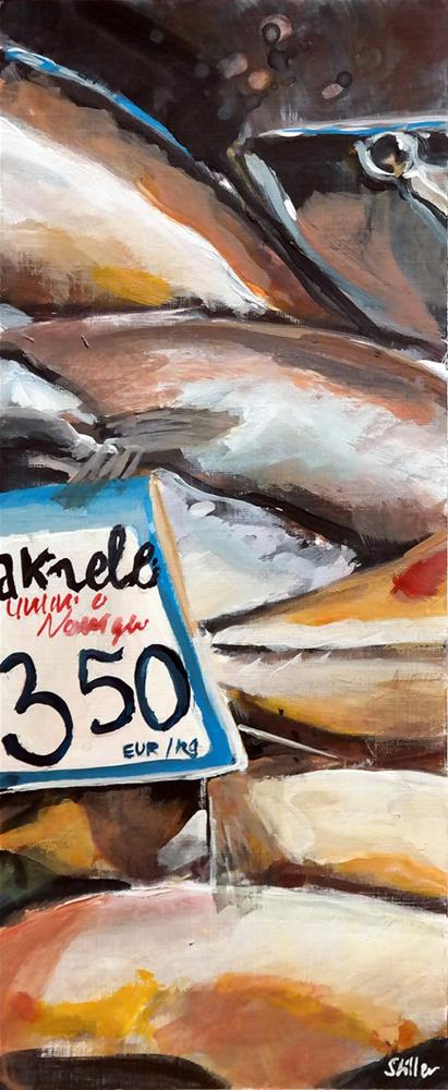 """2549 Mackerel"" original fine art by Dietmar Stiller"