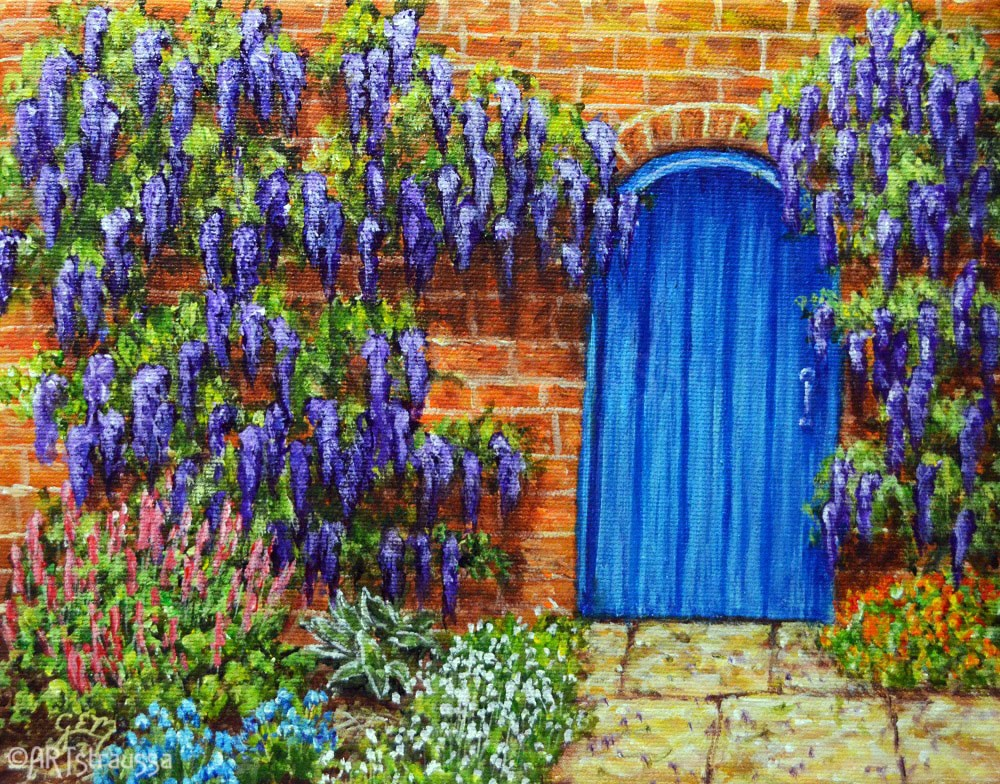 """The Blue Door"" original fine art by Gloria Ester"