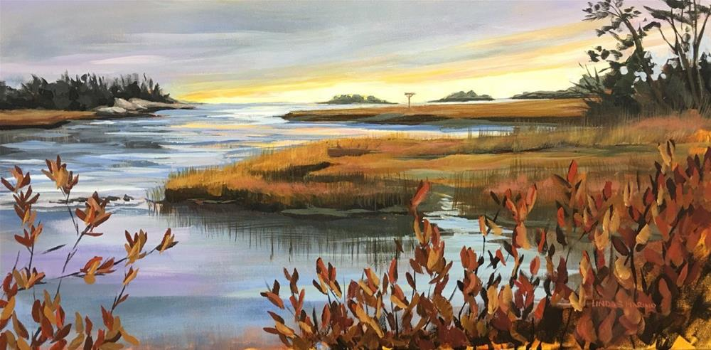 """End of the Autumn Day"" original fine art by Linda Marino"
