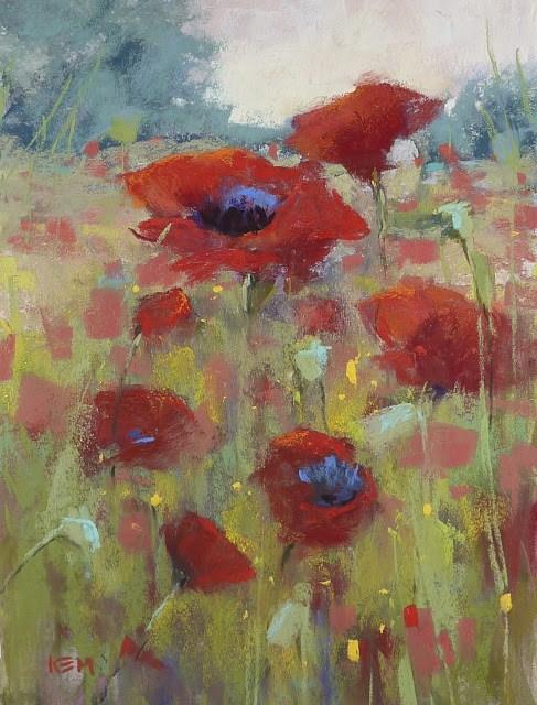 """'Perseverance' Poppy Landscape"" original fine art by Karen Margulis"