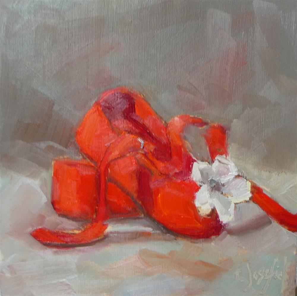 """Maddie's Shoes"" original fine art by Carol Josefiak"