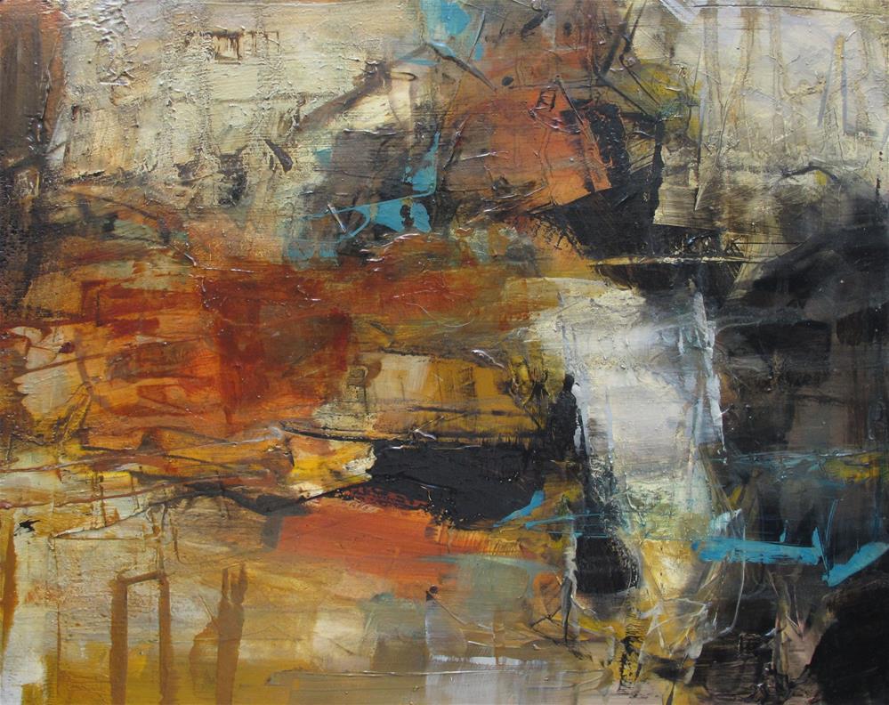 """ORIGINAL Social Network ABSTRACT PAINTING Art Oil 8x10"" original fine art by Colette Davis"