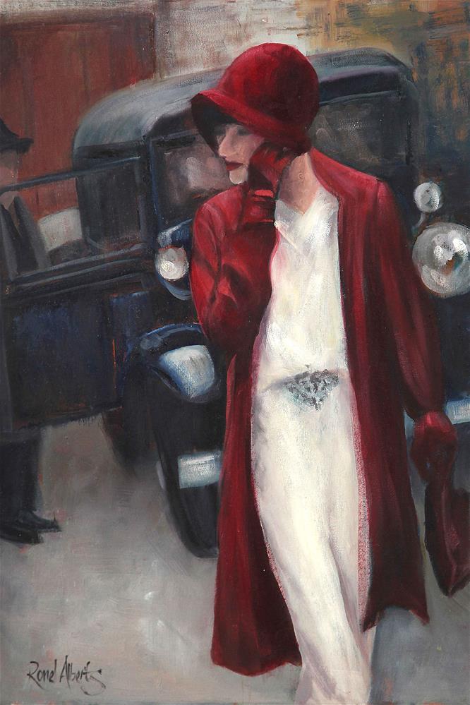 """vintage look"" original fine art by Ronel Alberts"