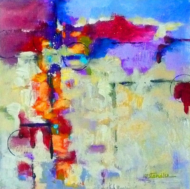 """Landscape Data: Circle 12053"" original fine art by Nancy Standlee"