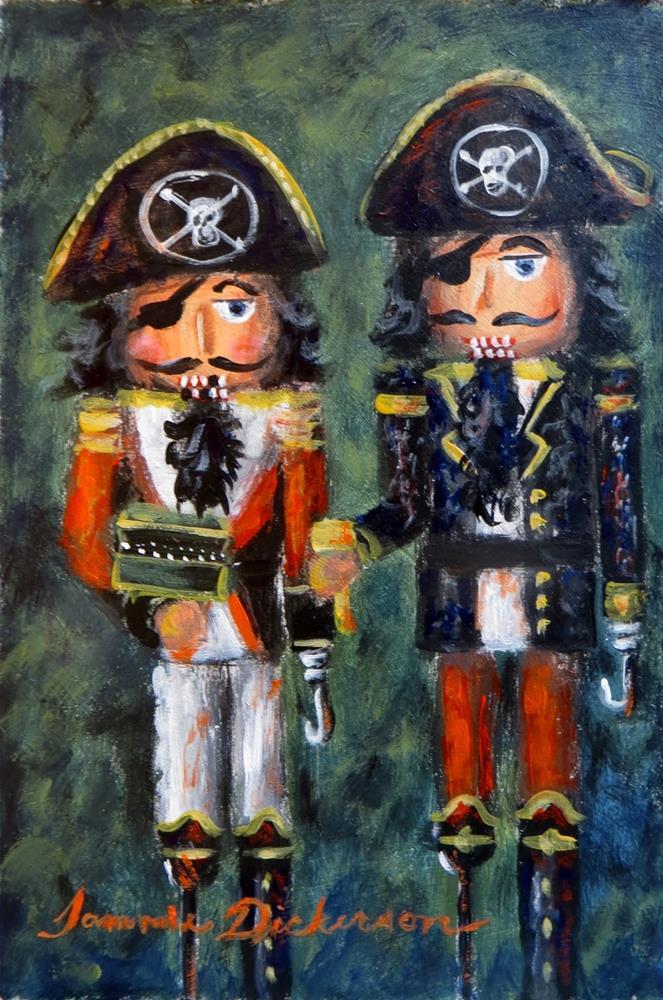 """Pirate Nutcrackers!"" original fine art by Tammie Dickerson"