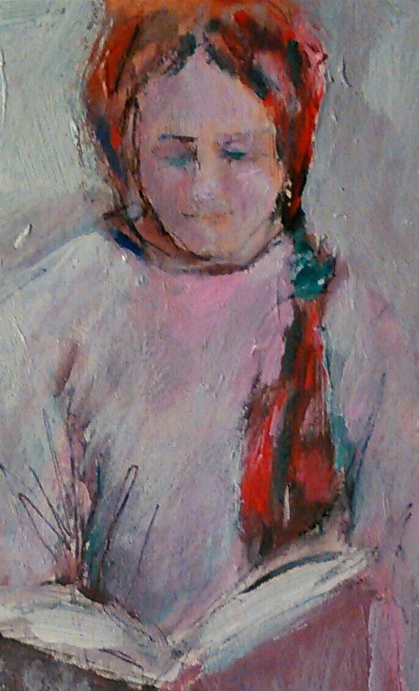 """""""Book Girl"""" original fine art by Ann Rudd"""