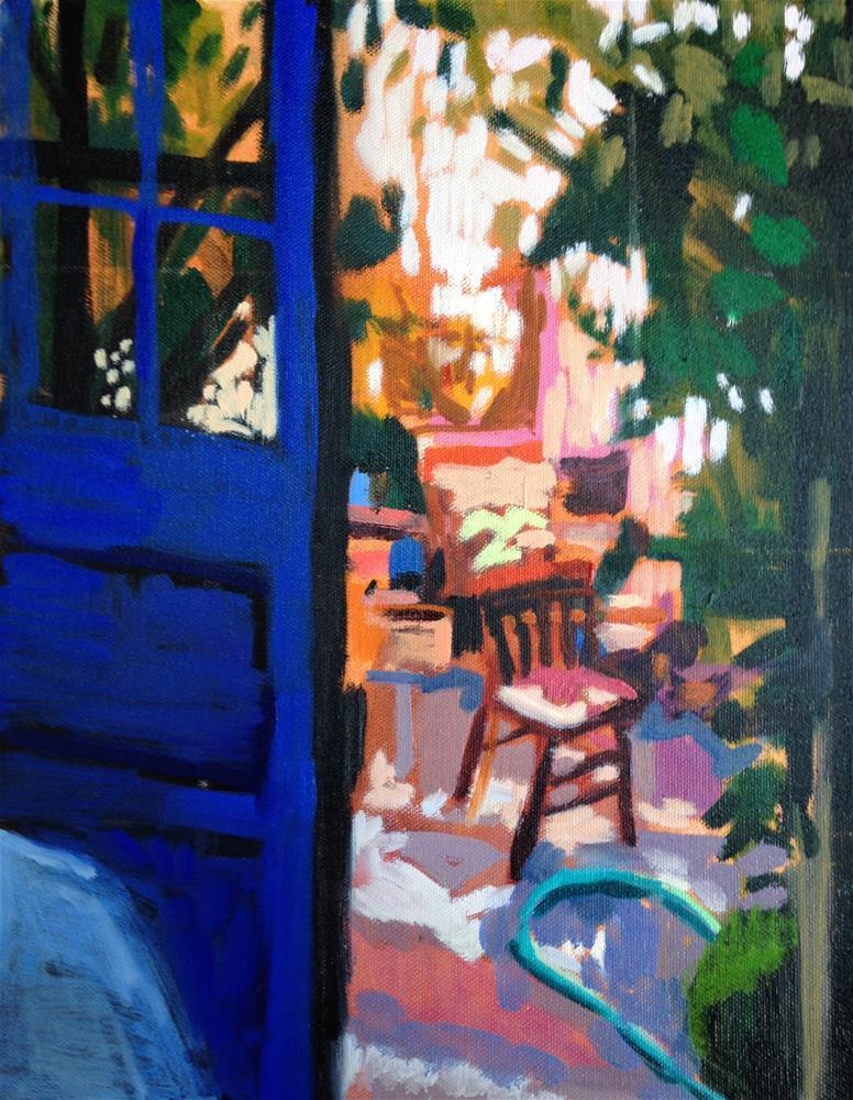 """""""Blue Door"""" original fine art by Pamela Hoffmeister"""
