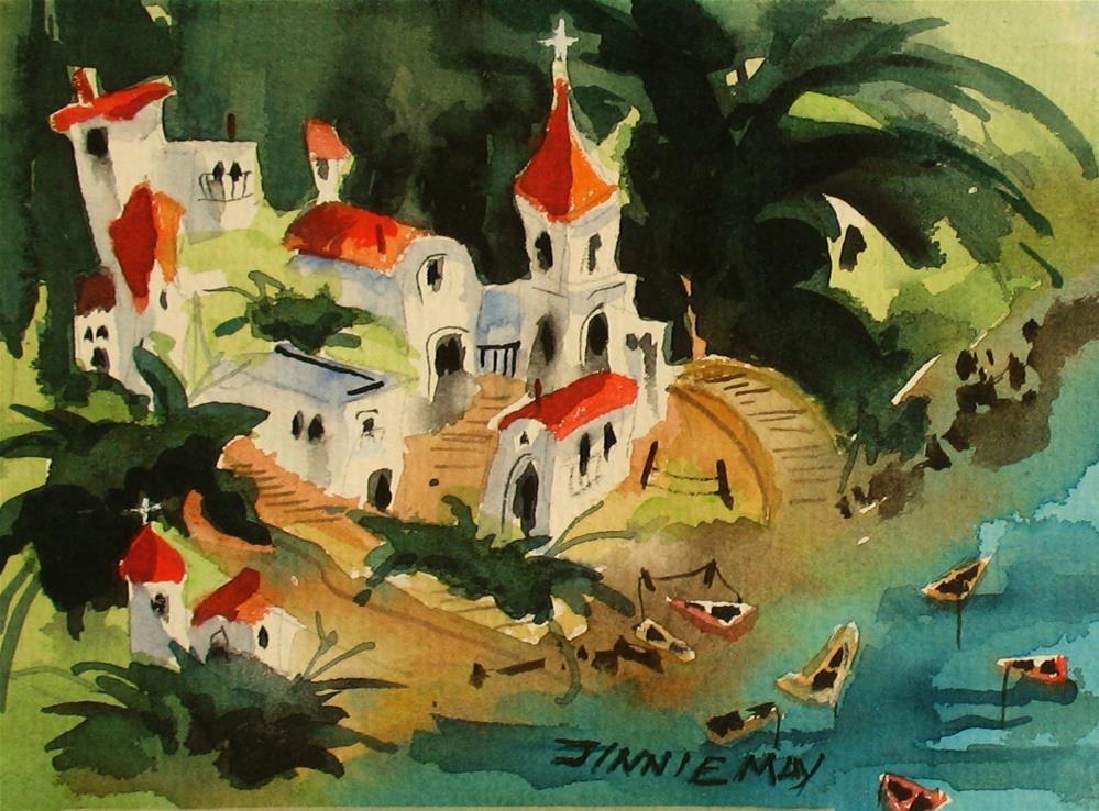 """Amalfi Coast"" original fine art by Jinnie May"