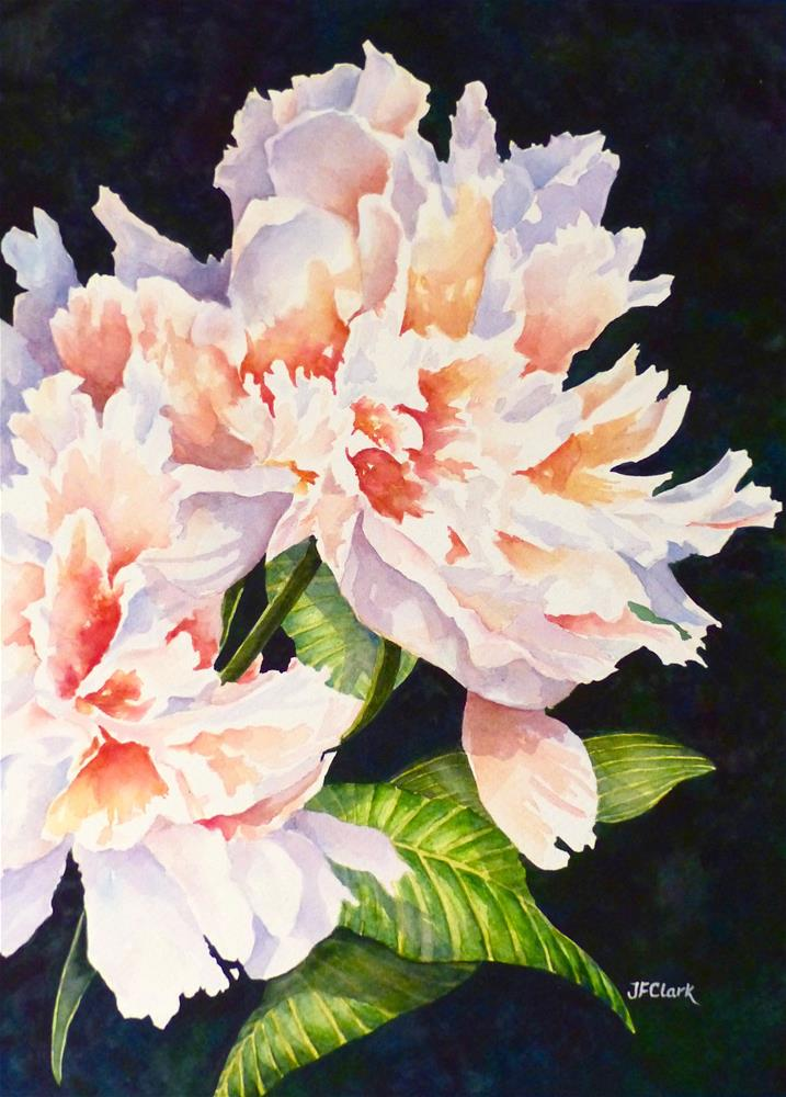 """Opal Peony"" original fine art by Judith Freeman Clark"