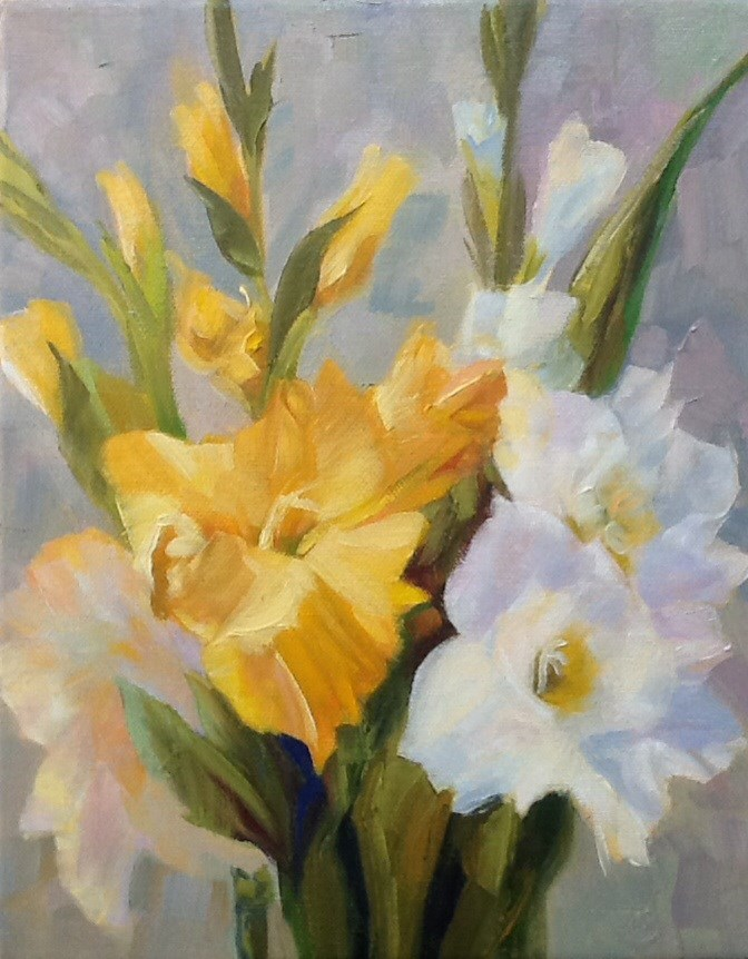 """Gladiolus"" original fine art by Charlotte Fitzgerald"