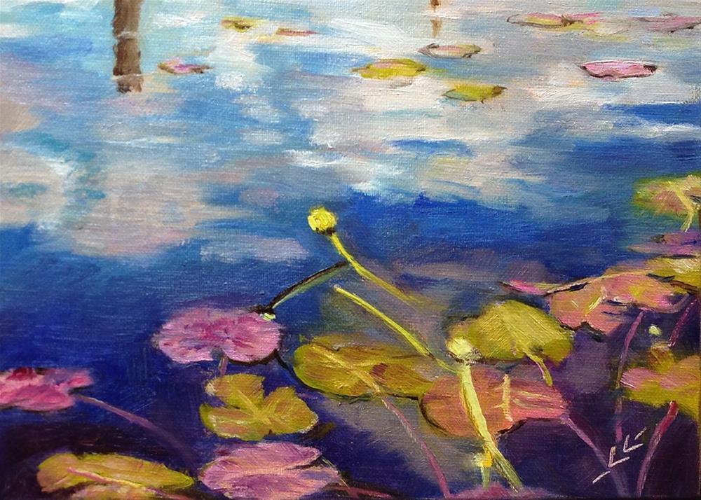 """""""Channeling Monet"""" original fine art by Linda Lowery"""