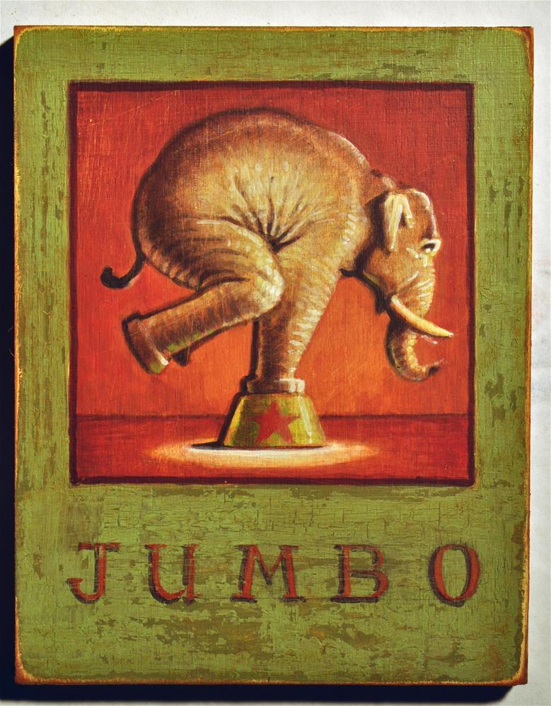 """Jumbo"" original fine art by Robert LaDuke"