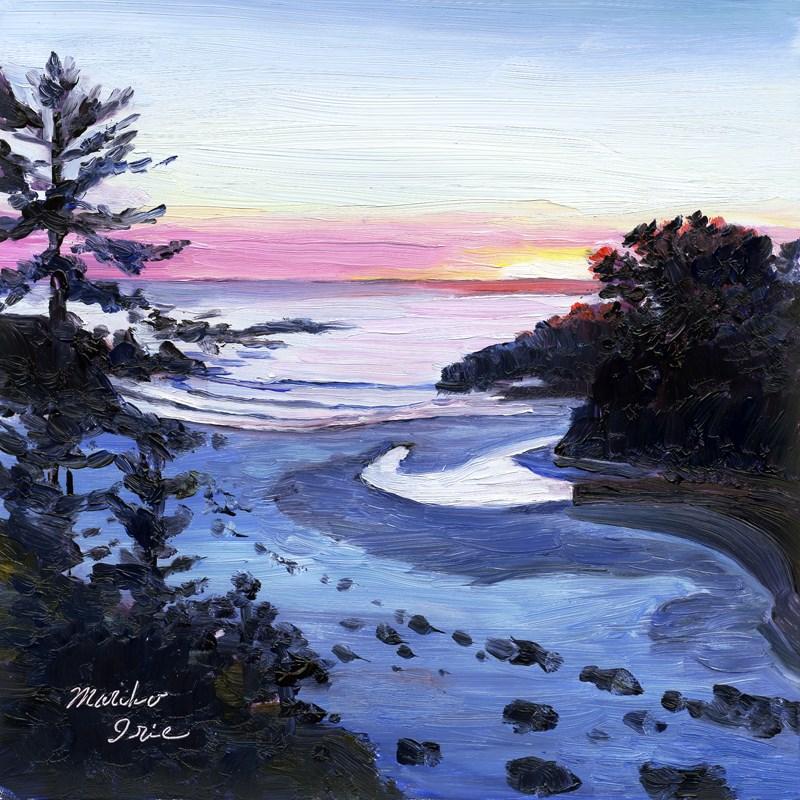 """Sunset at Jug Handle Beach"" original fine art by Mariko Irie"