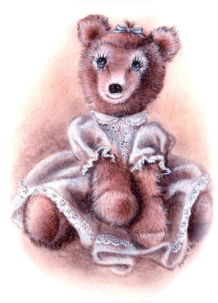 """""""Girl Bear"""" original fine art by Karen Roncari"""