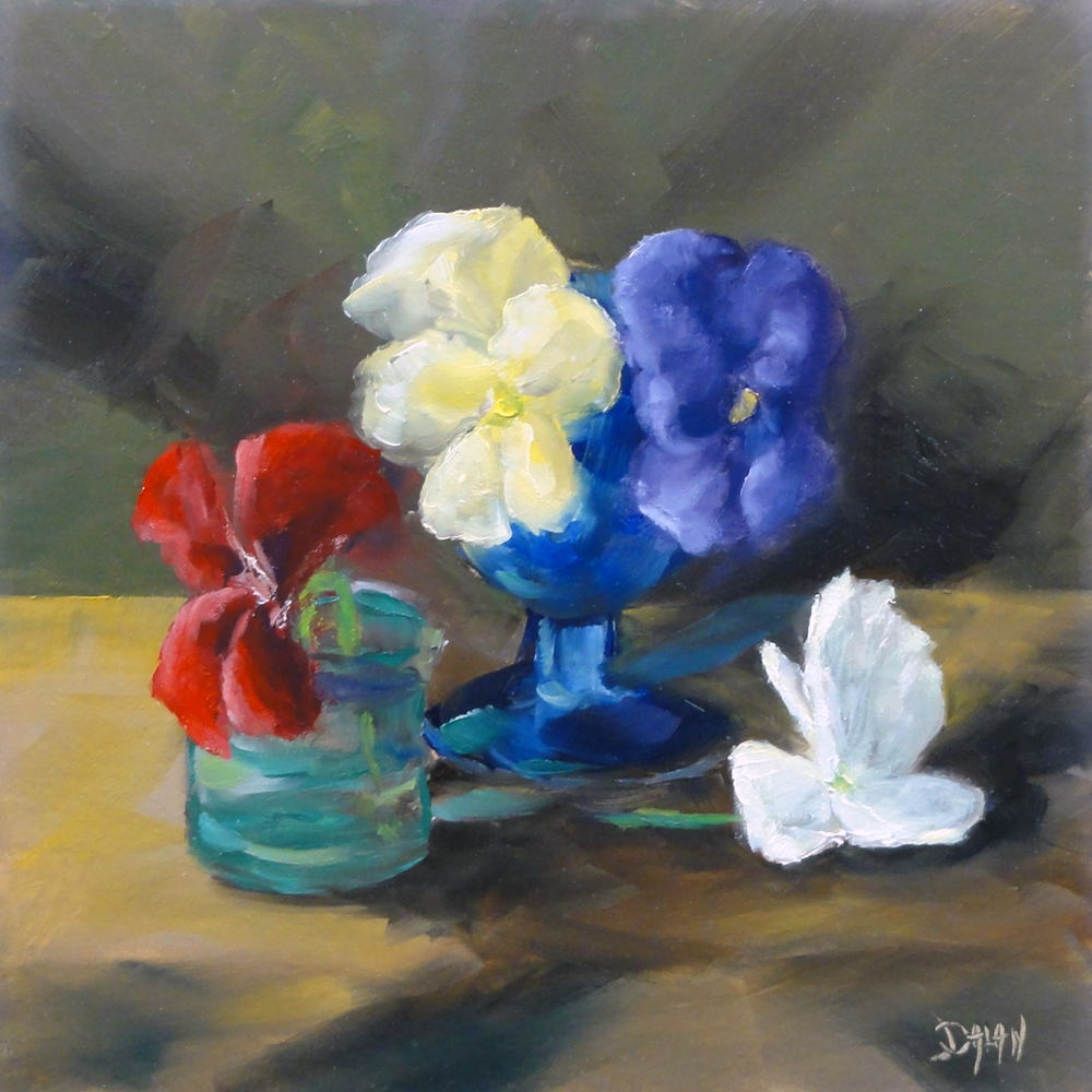 """Pansies"" original fine art by Dalan Wells"