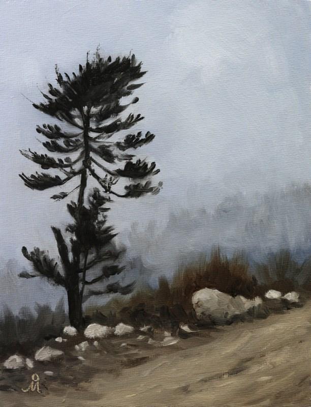 """Last Tree Standing"" original fine art by Mandar Marathe"