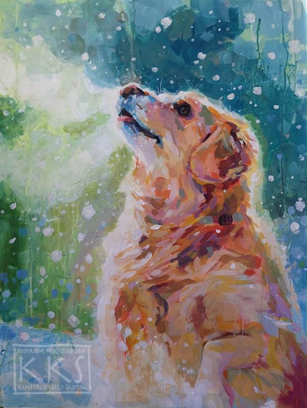 """Nita's Bliss"" original fine art by Kimberly Santini"