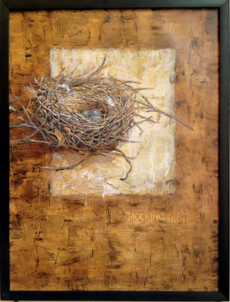 """Avian Architecture - The Start, plus framing Info."" original fine art by Julie Ford Oliver"