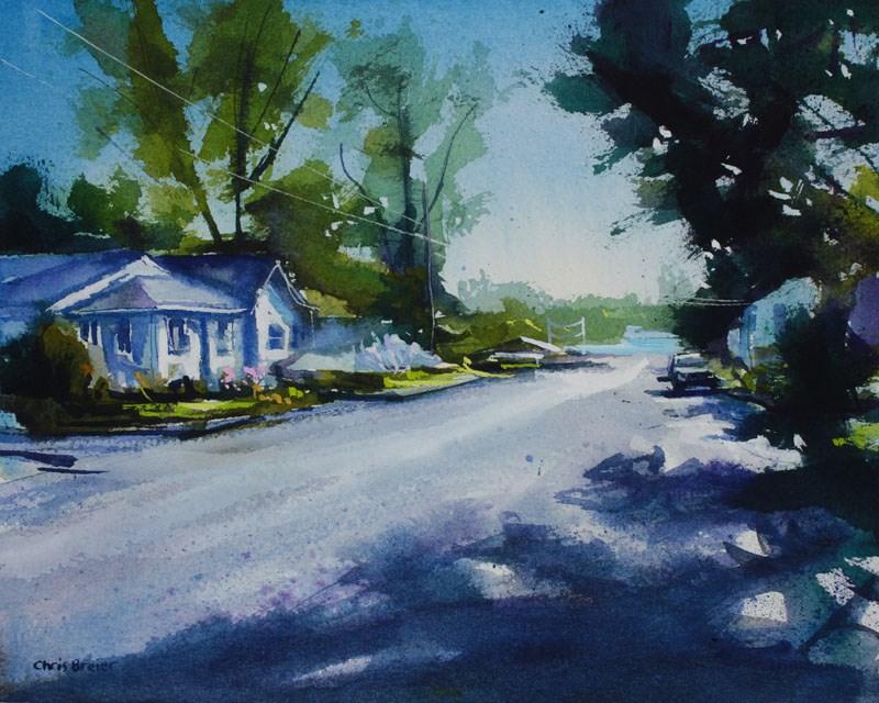 """Ontario Street"" original fine art by Chris Breier"